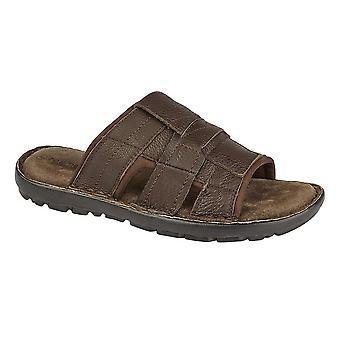 Roamers Mens Slip On Mule Sandals