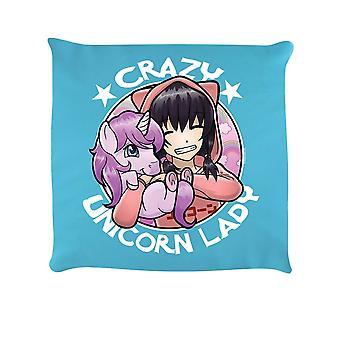 Grindstore Crazy Unicorn Lady Cushion