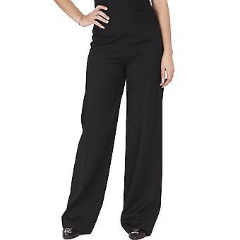 Donna Karan Ezbc362001 Women's Black Wool Pants