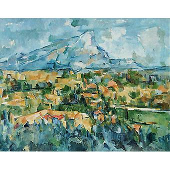 Mont Sainte-Victoire, View from Lauves, Paul Cezanne, 50x40cm