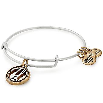 Alex And Ani Initial Y Two Tone Charm Bangle