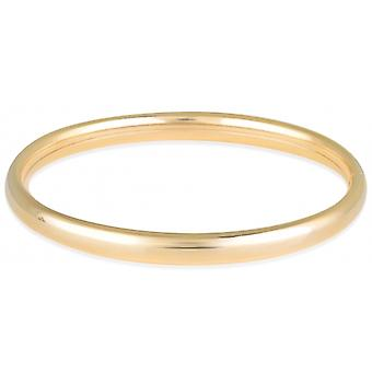 Jonc Plated Top Gold Bracelet On The Side 60mm 6x3mm thickness
