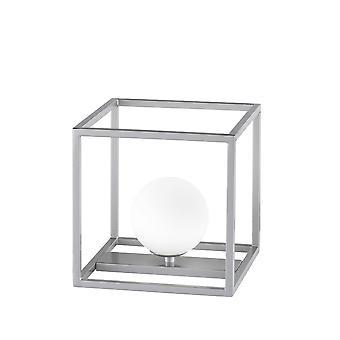 Wofi Table Lamp Aurelia 1 Light Nickel Matt Finished