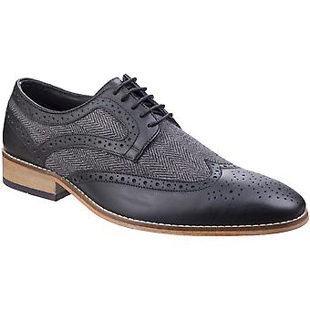 Lambretta Mens Fenchurch Combi spets upp Brogue Oxford Smart skor