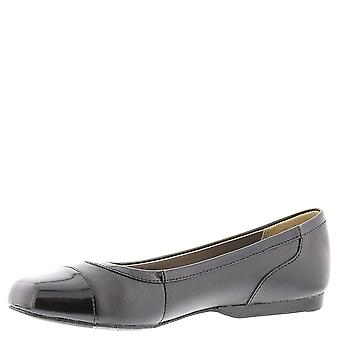 ARRAY Womens Madison Leather Cap Toe Ballet Flats