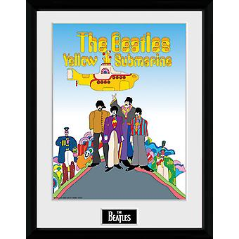The Beatles gule ubåd indrammet Collector Print 40x30cm