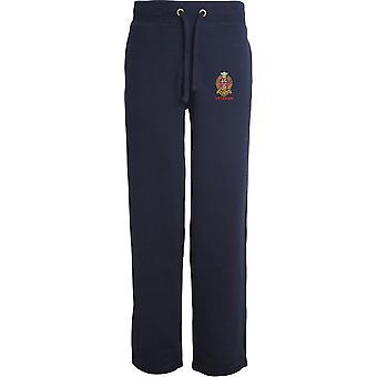 Prince of Wales Regimento próprio de Yorkshire PWRR-veterano-licenciado British Army bordados abertos hem Sweatpants/jogging Bottoms