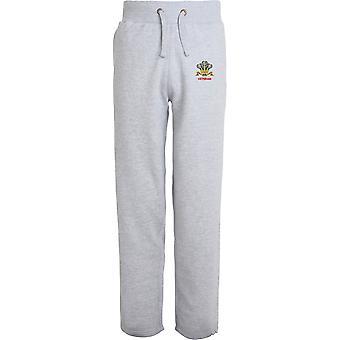 Royal Regiment of Wales Veteran - lizenzierte britische Armee bestickt offenen Hem Sweatpants / Jogging Bottoms
