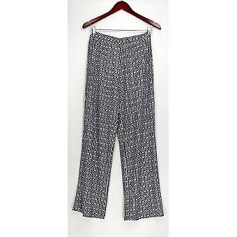 Susan Graver Donne's Pantaloni XXS Stampato Liquido Maglia Comfort Cintura Blu A274515