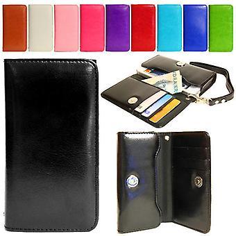 Lompakko kotelo käsi laukku iPhone SE/5S/5/5C/4S + ranne hihna