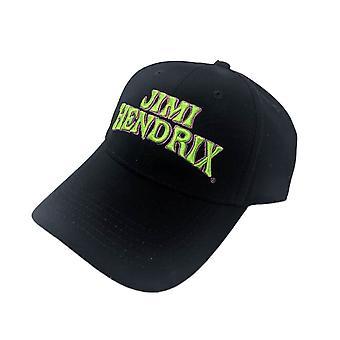 Jimi Hendrix Logo Black Baseball Cap