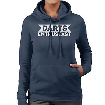 Darts Enthusiast Women's Hooded Sweatshirt