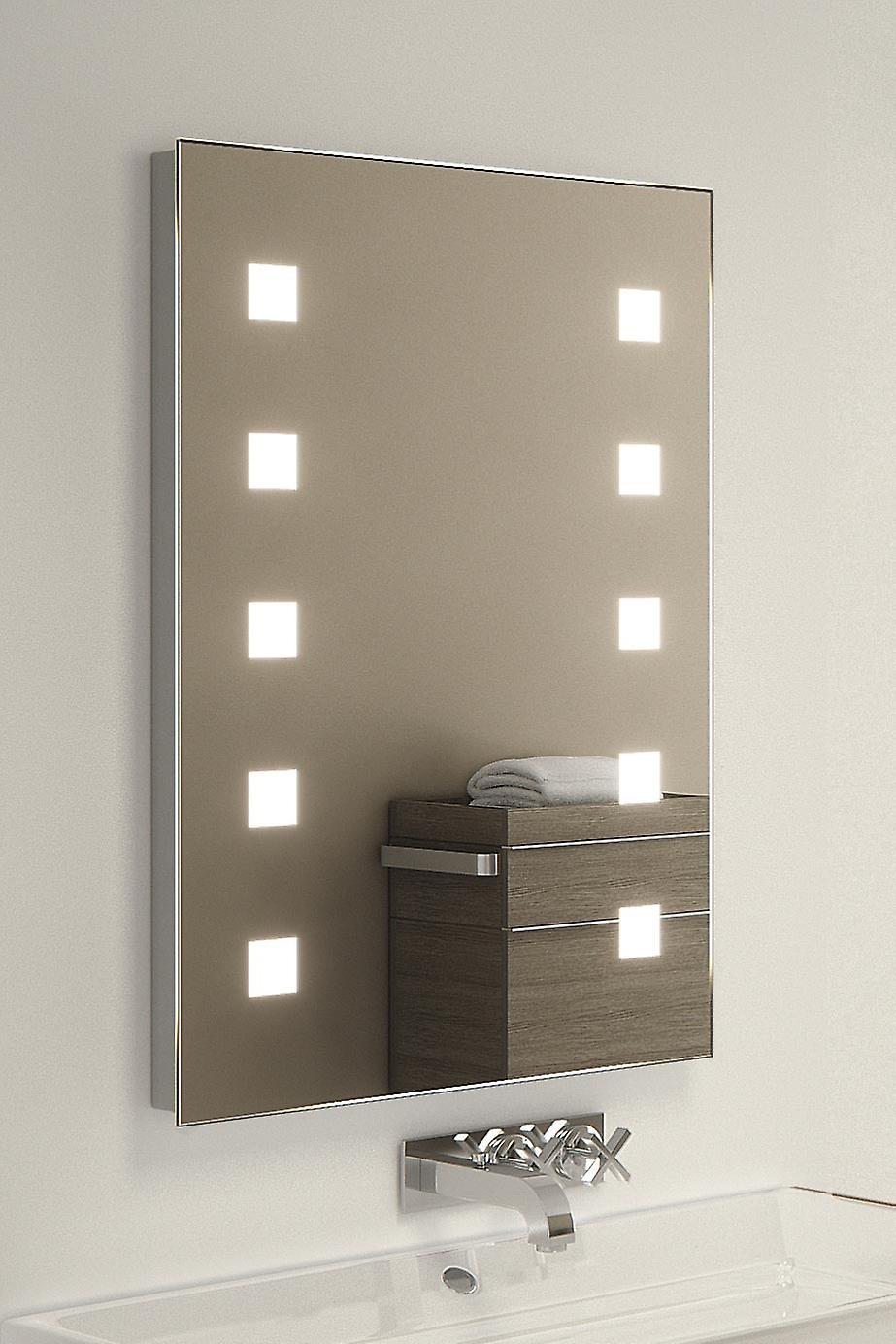 Azhagi Ultra-Slim LED Bathroom Mirror With Demister Pad & Sensor k207i