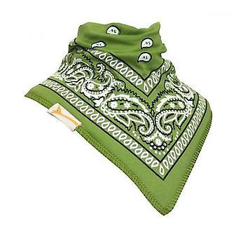 Gröna & vit mönstrad bandana bib