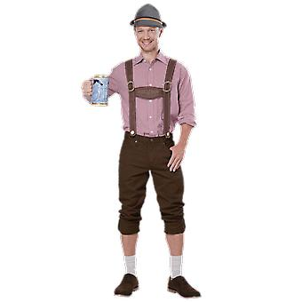 Mens Oktoberfest lederhosen Kit cerb Night Germania Fancy Dress costum accesoriu