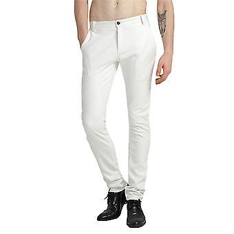 Allthemen Men's Mid-Waist Thick Slim Fit Dance Performance Leather Pants