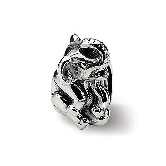 925 Sterling Silver Polished Antiquário Reflections SimStars Elephant Bead Charm Piny Jewely Gifts