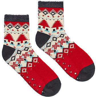 Joules Womens Cabin Fluffy Contrast Warm Super Soft Socks