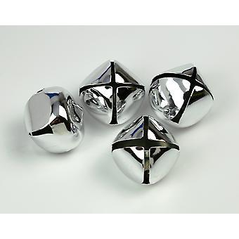 4 Silver 35mm Jingle Bells for Crafts | Craft Bells
