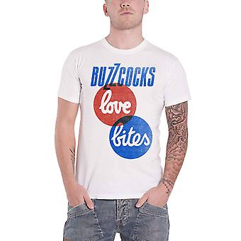 Buzzcocks T Shirt Love Bites band logo Punk new Official Mens White