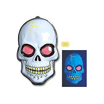 3D Neon skull dekoration 56X38Cm