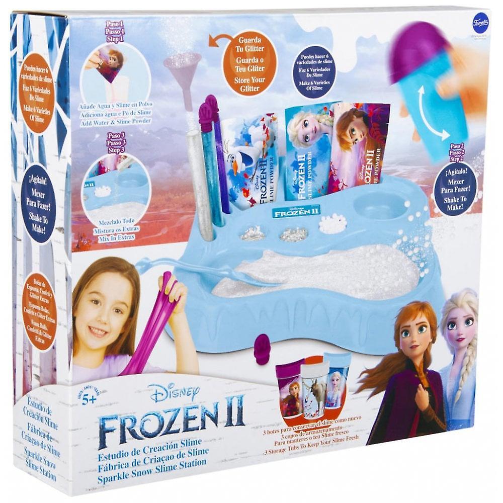 Disney fryst Frozen II Sparkle Snow Slime Station