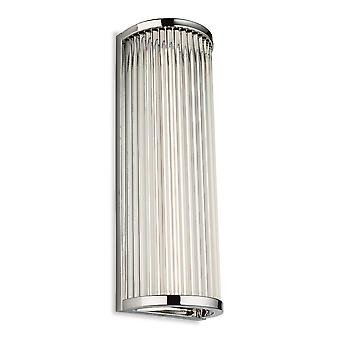 Firstlight Jewel integrerat LED badrum spola vägg ljus krom med klara glasstavar IP44 3706CH