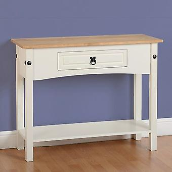 Corona 1 Drawer Console Table With Shelf Painted White
