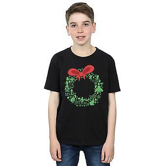 Marvel Boys Avengers Weihnachten Kranz T-Shirt