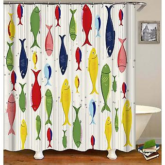Multi Colored Fish Shower Curtain