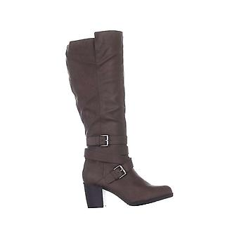 Style et Co. Femmes Jomaris Cuir Amande orteil genou High Fashion Boots