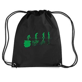 Black backpack fun3471 man evolution ecology planet