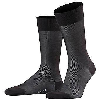 Falke Fine Shadow Wool Socks - Black/Grey