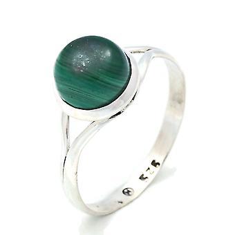 Ring Silber 925 Sterlingsilber Malachit grün Stein (Nr: MRI 140)
