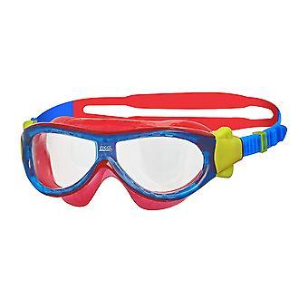 Zoggs simning Goggles Phantom Kids mask i blått/röd/Clear-0-6yrs