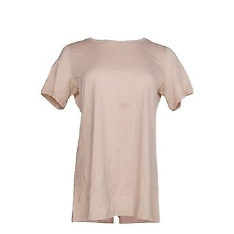 LOGO By Lori Goldstein Women's Top S The 28 Tee Pink A347458