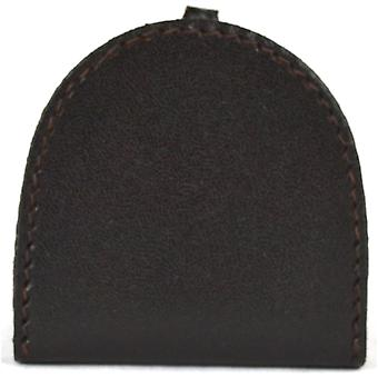 Echtes Leder Semi Round Geld Tray Purse (Dark Brown
