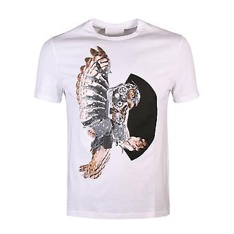 Neil Barrett Gráfico Eagle Logo T-Shirt