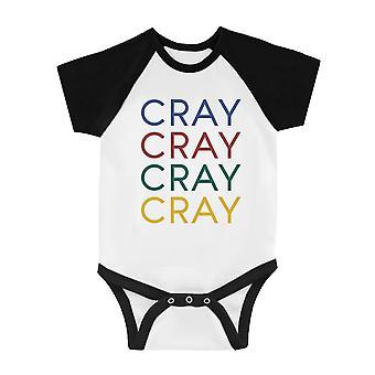365 Printing Cray Infant Baseball Shirt Gag Baby Shower Gift Humor Raglan Tee