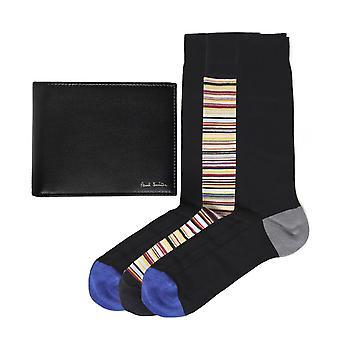 Paul Smith plånbok & strumpor gift set