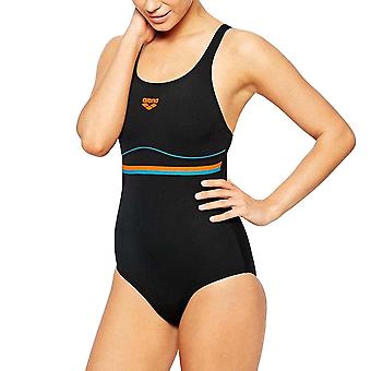 arena Womens Mesco One Piece Pro Back Swim Swimming Costume Swimsuit Black - 38