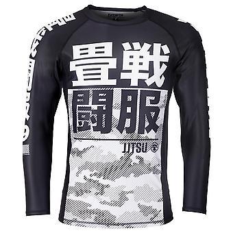 Tatami Fightwear kinderen essentieel Camo lange mouw Rash Guard zwart/wit