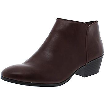 Style & Co. Womens Wileyyp Faux Leather Booties Brown 9.5 Medium (B,M)