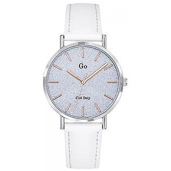 Watch Go Girl Only 699939 - Silver Steel Bracelet White Leather Women