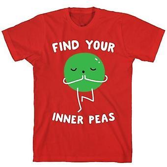 Finden Sie Ihre inneren Erbsen rotes T-shirt