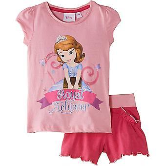 Děvčata Disney Princess Sofie První 2 dílka s krátkým rukávem a šortky
