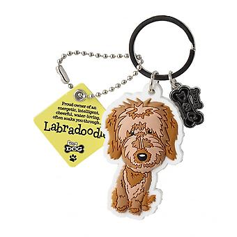 Wags & Whiskers Keyring - Labradoodle