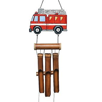 Fire Truck Bamboo Wind Chime