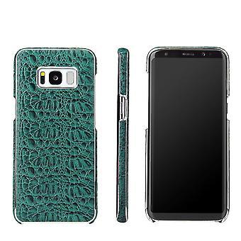 Samsung Galaxy S8 PLUS kotelo, FS crocodile aito nahkakansi, vihreä