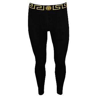 Versace Iconic Long Johns, Nero/oro